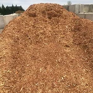 Cedar mulch ready for delivery in Clayton NC